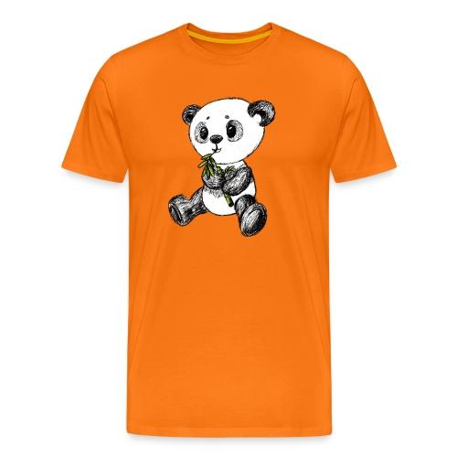Panda bjørn farvet scribblesirii - Herre premium T-shirt