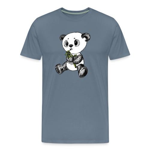 Panda Bär farbig scribblesirii - Männer Premium T-Shirt