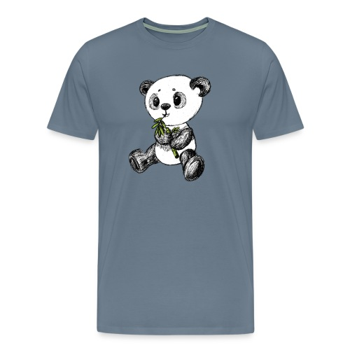 Panda bear colored scribblesirii - Men's Premium T-Shirt
