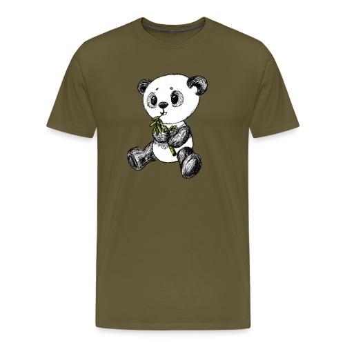 Panda Karhu värillinen scribblesirii - Miesten premium t-paita