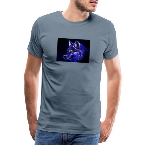 jeff wolf - Premium T-skjorte for menn