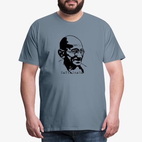 Gandhi Satyagraha - Premium-T-shirt herr