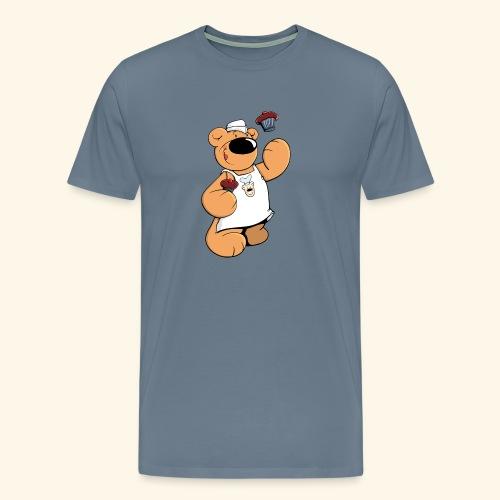 Der Bäcker Bär backt leckere Muffins - Männer Premium T-Shirt
