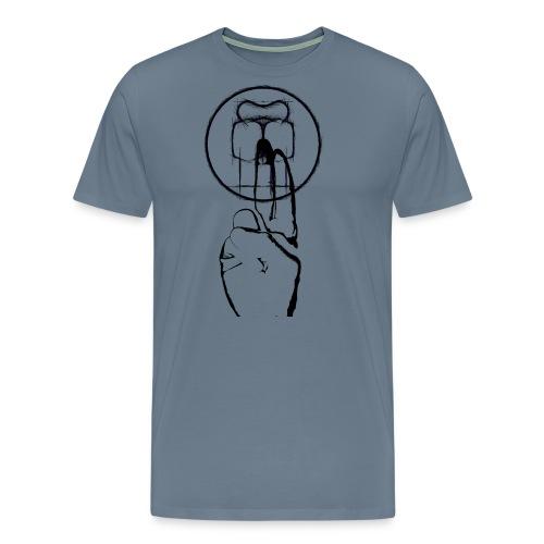 mikologoblack - Männer Premium T-Shirt