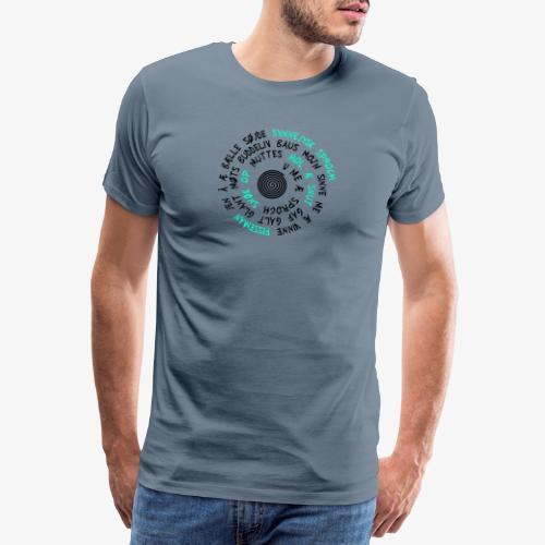 Synnejysk sproch! Galt glant - Herre premium T-shirt