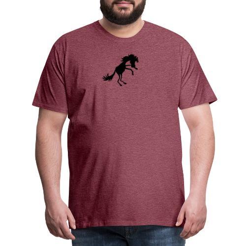 steigendes Pferd - Männer Premium T-Shirt