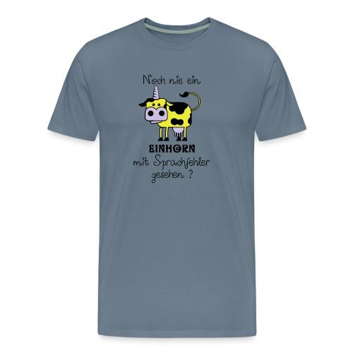 Einhorn mit Sprachfehler - Männer Premium T-Shirt