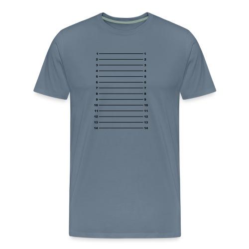 Length Check T-Shirt Plain - Men's Premium T-Shirt