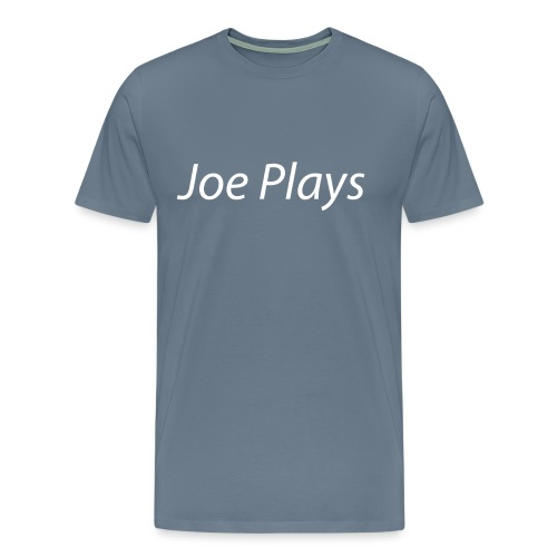 Joe Plays White logo - Premium T-skjorte for menn