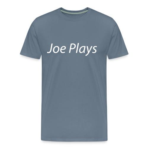 Joe Plays White logo - Premium T-skjorte for menn