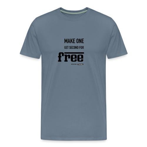 TWINS. make one get second for free - Männer Premium T-Shirt