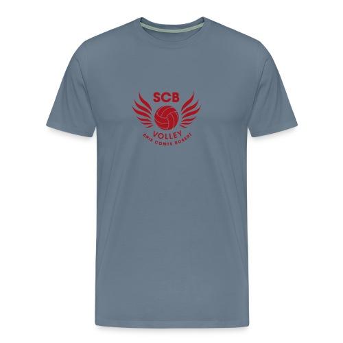 LogosVolleyBall MonochromeRouge - T-shirt Premium Homme