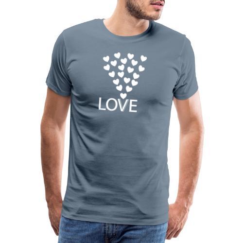 LOVE Herz - Männer Premium T-Shirt