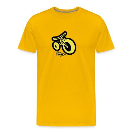 3CYCLE yellow - Maglietta Premium da uomo