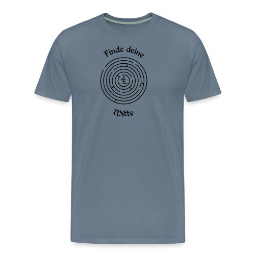 Finde deine Mitte - Männer Premium T-Shirt
