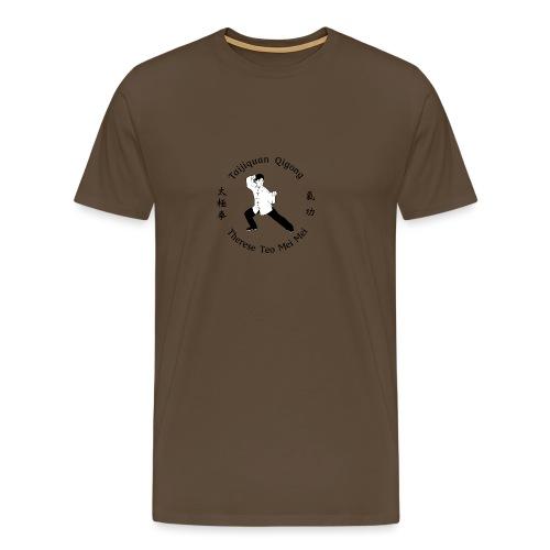 Teo Mei Mei Black Logo - Premium-T-shirt herr
