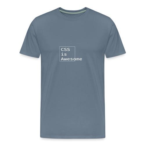 cssawesome - white - Mannen Premium T-shirt