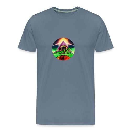 Leafy Disc - Premium T-skjorte for menn