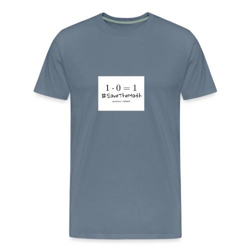 #SaveTheMath_1 - Maglietta Premium da uomo