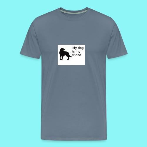 T-Shirt damski My dog is my friend - Koszulka męska Premium