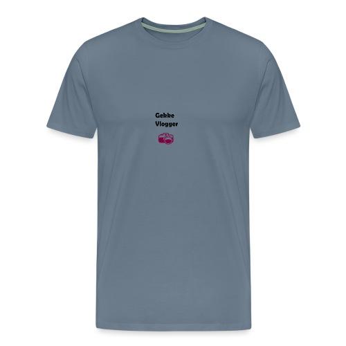 Gekke vlogger telefoon hoesje - Mannen Premium T-shirt