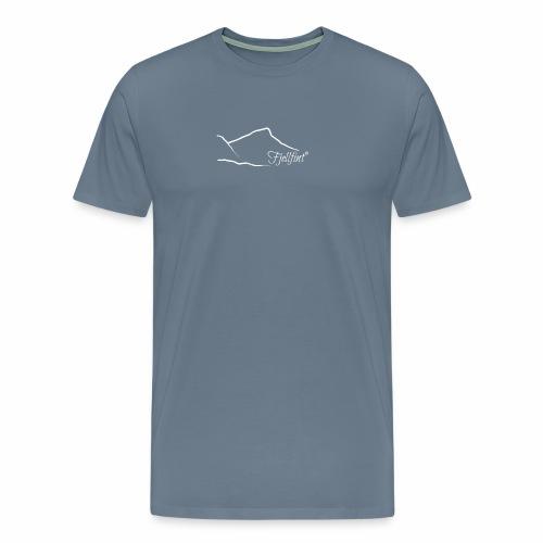Fjellfint m/hvit logo - Premium T-skjorte for menn