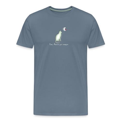 GATTO-E-LUNA - Maglietta Premium da uomo