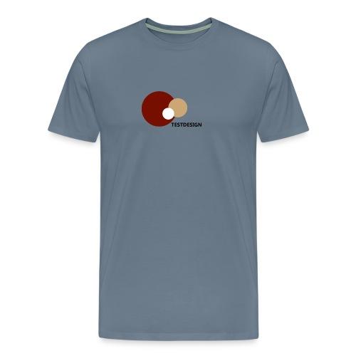 testdesign_font_black_transparent_background - Men's Premium T-Shirt