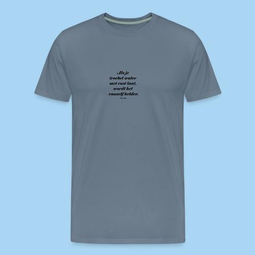Troebel water - Mannen Premium T-shirt