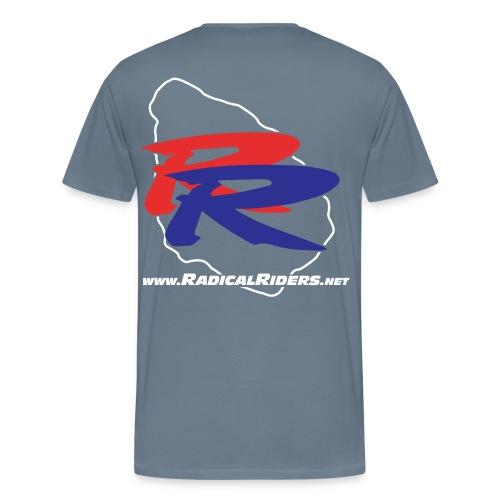 RR färg med vit ring o wwwtext - Premium-T-shirt herr