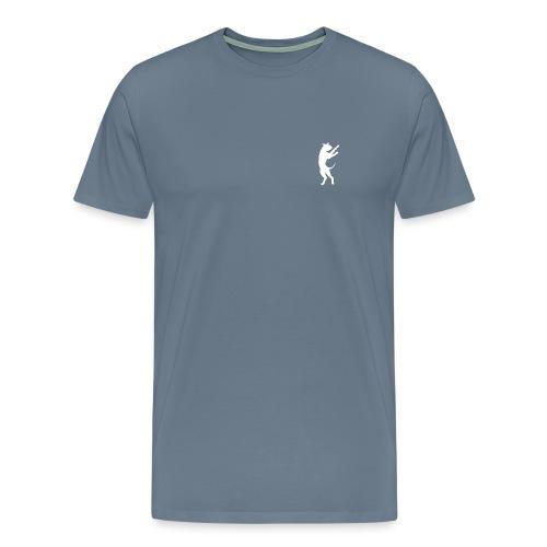 Bouncing Boxer Logo White - Men's Premium T-Shirt