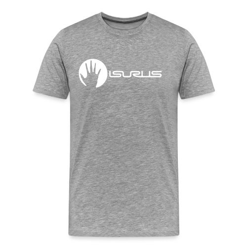 Isurus Hand & Logo White - Men's Premium T-Shirt