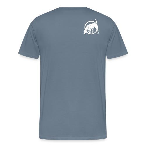 Mantrailing weiss png - Männer Premium T-Shirt