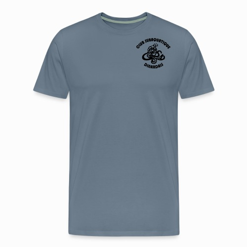 Logo CSD petit avec texte - T-shirt Premium Homme