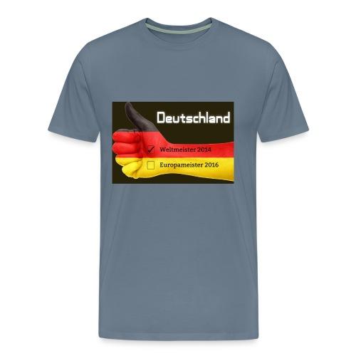 2016 Deutschland Flagge Europameister Weltmeister - Männer Premium T-Shirt
