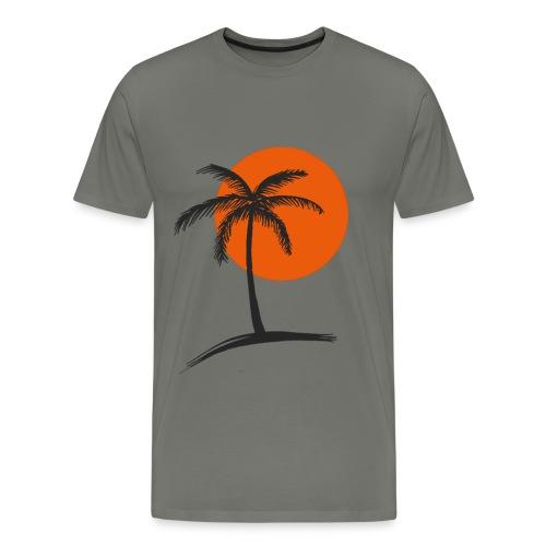 Palme mit Sonne - Männer Premium T-Shirt