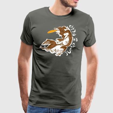 Flip hoppa - Choco - Premium-T-shirt herr
