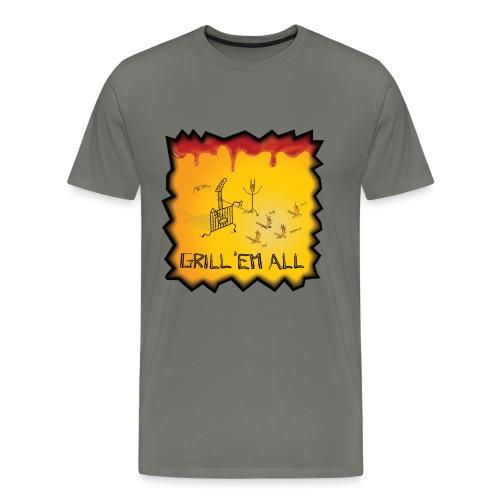 GRILL 'EM ALL - Maglietta Premium da uomo