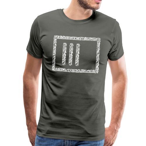 Wegzeichen 3 Min warten - Stift - Weiß - Männer Premium T-Shirt