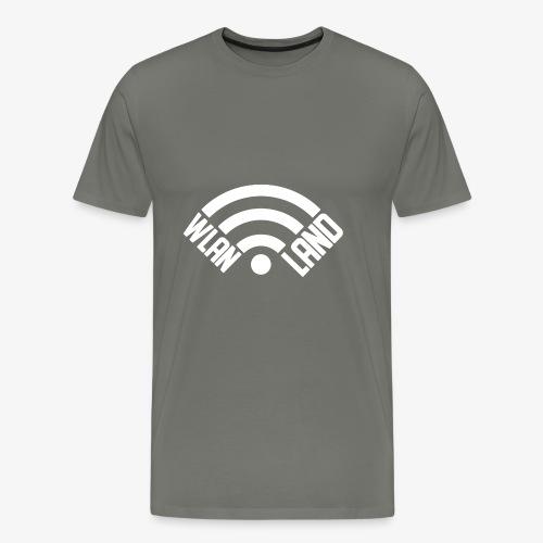 Wlan Land Logo weiss - Männer Premium T-Shirt