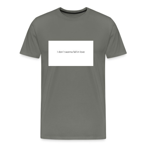 I_don-t_wanna_fall_in_love-pptx - Herre premium T-shirt
