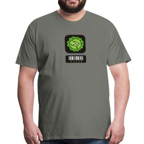 Vegan Barcode - Mannen Premium T-shirt