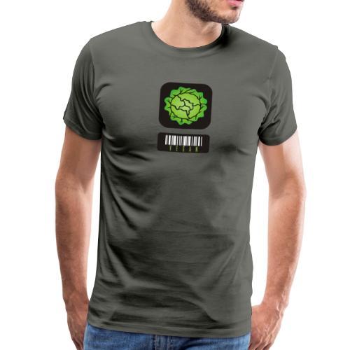 Vegan Barcode - Men's Premium T-Shirt
