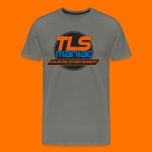 TLS Maniac Logo With Transparent Outline - Men's Premium T-Shirt