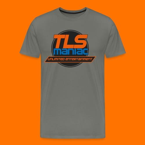 TLS Maniac Logo With Transparent Outline - Men's Premium T-Shirt