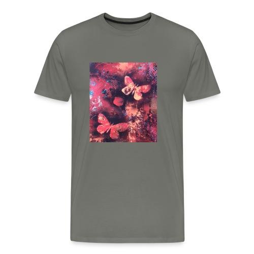 Papillons rouge - T-shirt Premium Homme