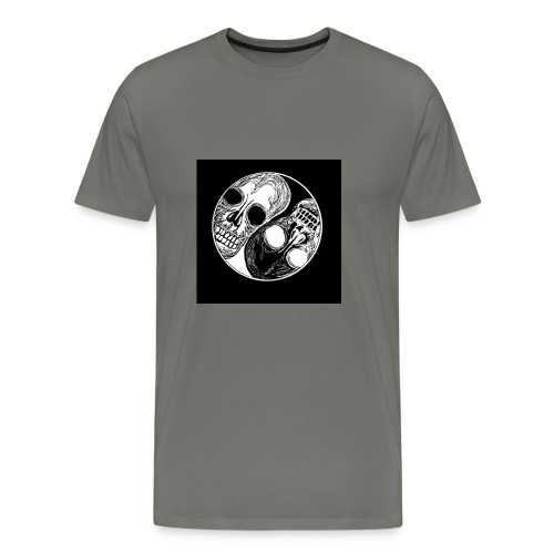 Yng yang skull - T-shirt Premium Homme