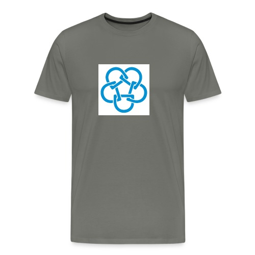 Diabetesf--rbundet_blomma__webb_pms - Premium-T-shirt herr