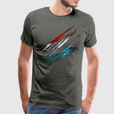 Luxembourg Slit open 001 AllroundDesigns - Men's Premium T-Shirt