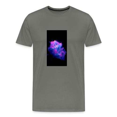 Purple and blue paint splat - Men's Premium T-Shirt